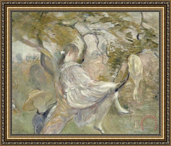 Berthe Morisot In the Apple Tree Framed Print