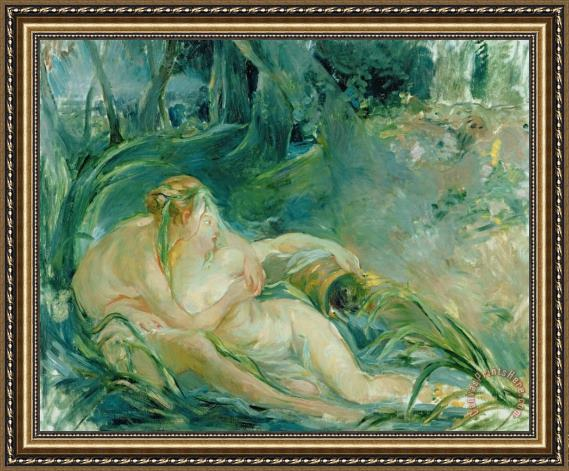 Berthe Morisot Jupiter and Callisto Framed Print