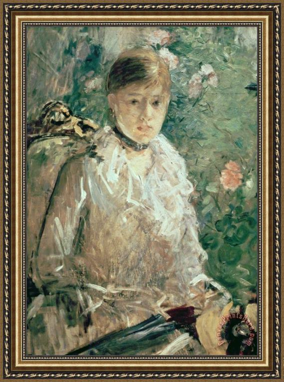 Berthe Morisot Portrait of a Young Lady Framed Print