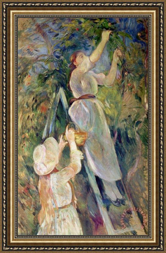 Berthe Morisot The Cherry Picker Framed Print