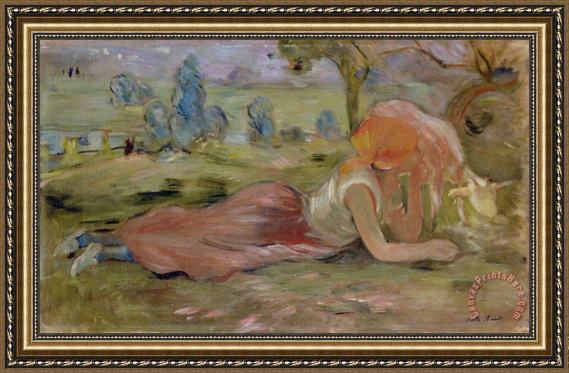 Berthe Morisot The Goatherd Framed Print