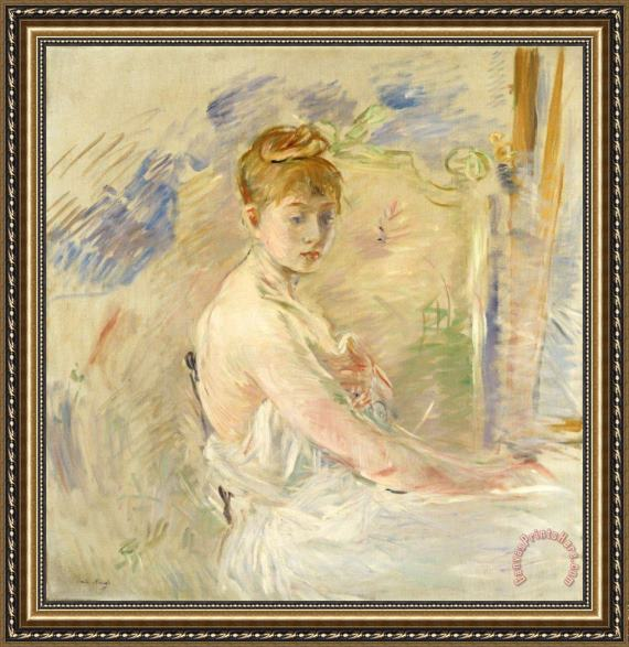 Berthe Morisot Young Girl Getting Up Framed Print