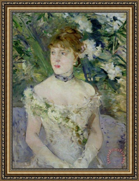 Berthe Morisot Young girl in a ball gown Framed Print