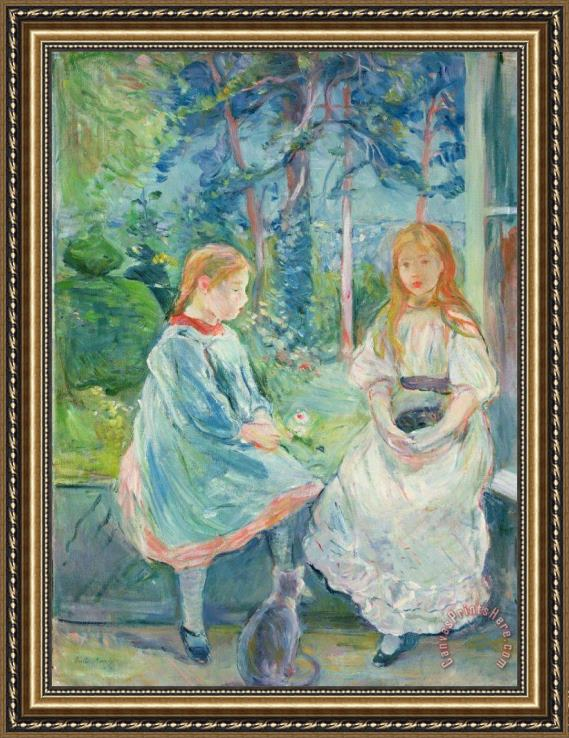 Berthe Morisot Young Girls at the Window Framed Print