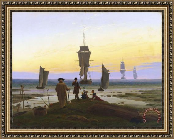 Caspar David Friedrich The Life Stages Framed Print