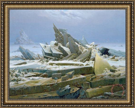 Caspar David Friedrich The Polar Sea Framed Print