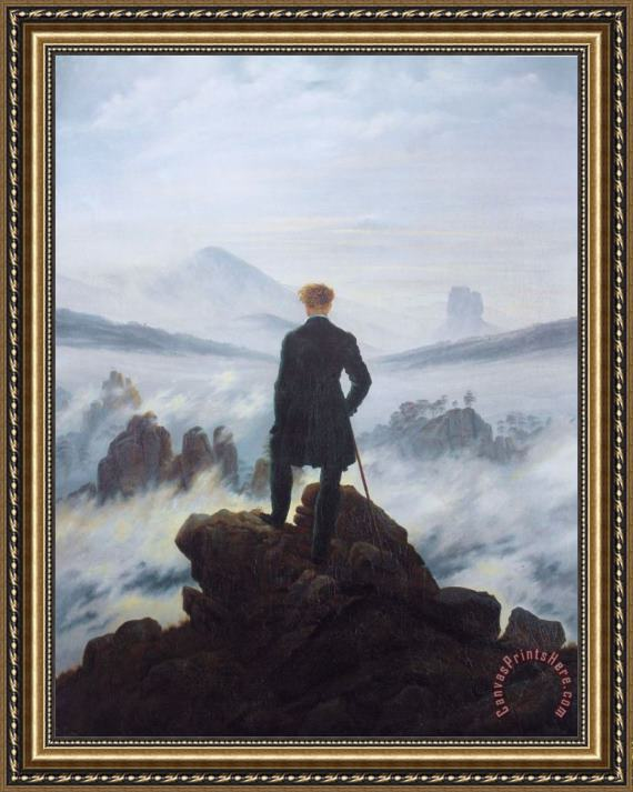 Caspar David Friedrich Wanderer Above The Sea of Fog Framed Print