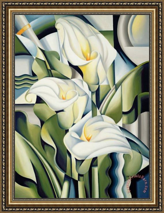 Catherine Abel Cubist lilies Framed Print