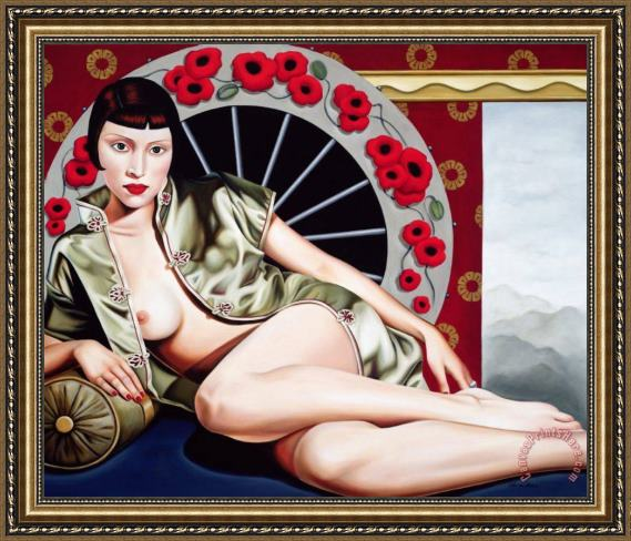 Catherine Abel Golden Poppy Hour Framed Print