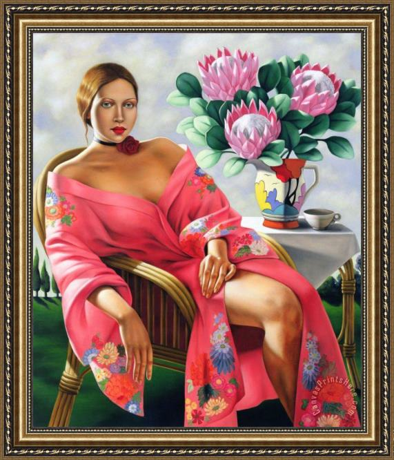 Catherine Abel Tea Late Afternoon Framed Print
