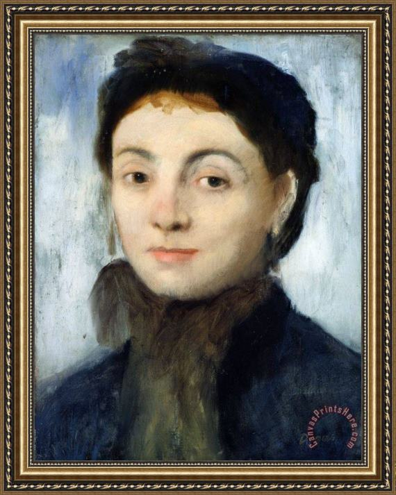 Edgar Degas Portrait of Josephine Gaujelin Framed Print