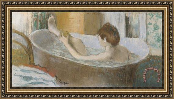 Edgar Degas Woman in her Bath Framed Print