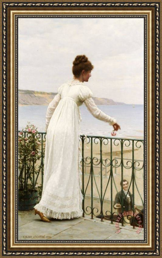 Edmund Blair Leighton A Favour Framed Print