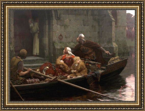 Edmund Blair Leighton In Time of Peril Framed Print