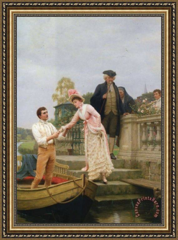 Edmund Blair Leighton Lay Thy Sweet Hand in Mine And Trust in Me Framed Print
