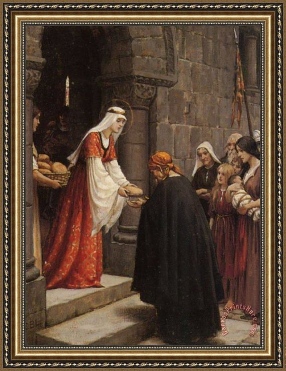 Edmund Blair Leighton Study for The Charity of Saint Elizabeth of Hungary Framed Print