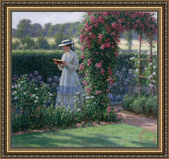 Edmund Blair Leighton Sweet Solitude Framed Print