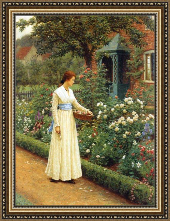 Edmund Blair Leighton The Fate of The Rose Framed Print