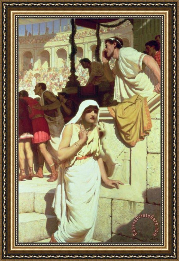 Edmund Blair Leighton The Gladiators Wife Framed Print