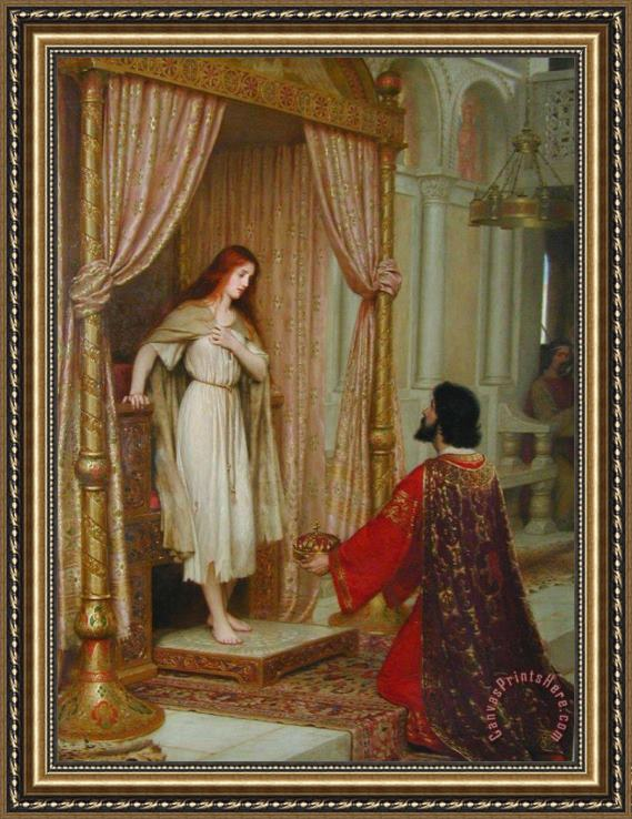 Edmund Blair Leighton The King And The Beggar Maid Framed Print