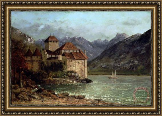 Gustave Courbet The Chateau de Chillon Framed Print