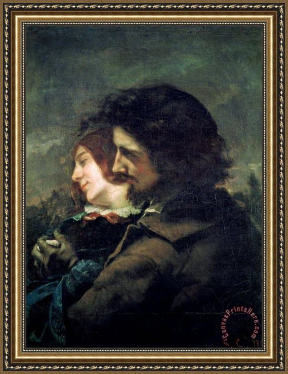 Gustave Courbet The Happy Lovers Framed Print