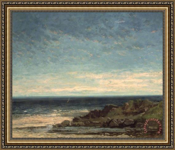 Gustave Courbet The Sea Framed Print