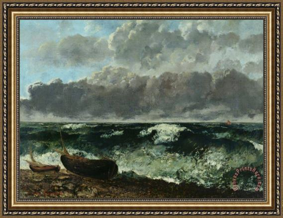 Gustave Courbet The Stormy Sea Framed Print