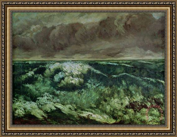Gustave Courbet The Wave Framed Print