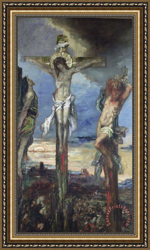 Gustave Moreau Christ between the Two Thieves Framed Print