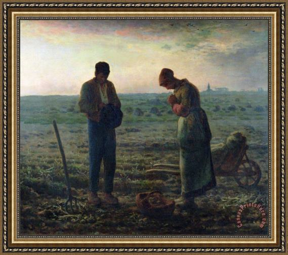 Jean-Francois Millet The Angelus Framed Print