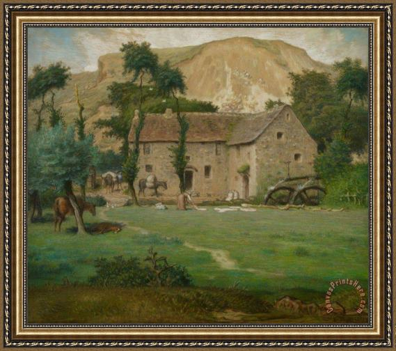 Jean-Francois Millet The Farm House Framed Print