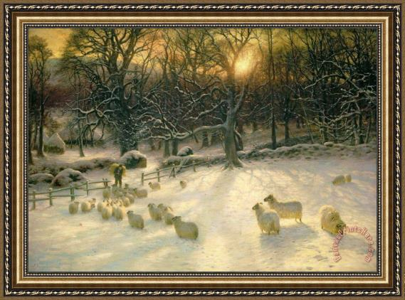 Joseph Farquharson The Shortening Winters Day is Near a Close Framed Print