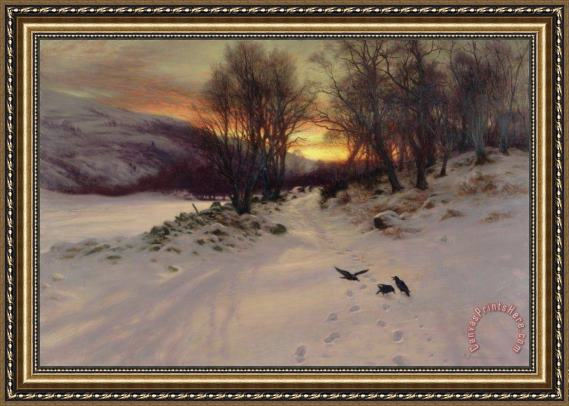 Joseph Farquharson When the West with Evening Glows Framed Print