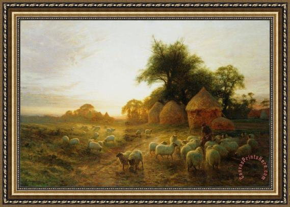 Joseph Farquharson Yon Yellow Sunset Dying in the West Framed Print