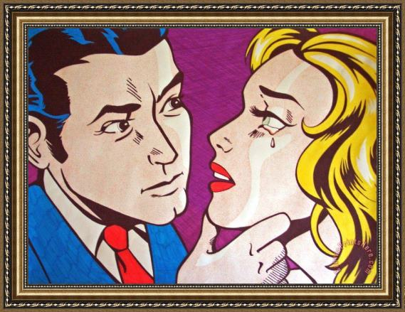Roy Lichtenstein Emulation Framed Print