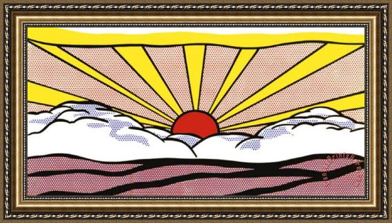 Roy Lichtenstein Sunrise c.1965 Framed Print