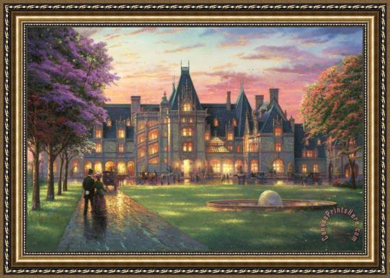 Thomas Kinkade Elegant Evening at Biltmore Framed Print
