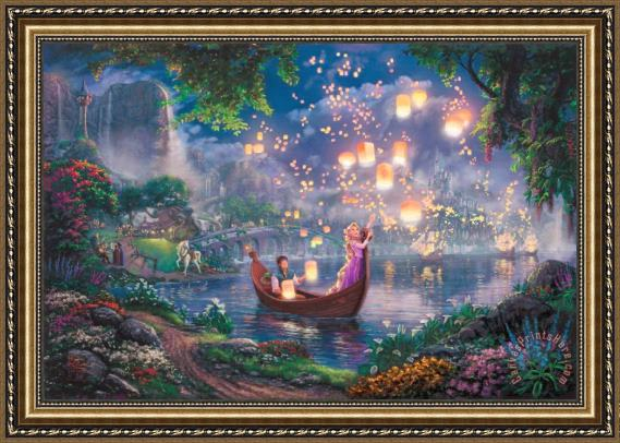 Thomas Kinkade Tangled Framed Print