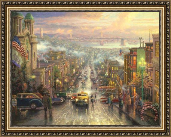 Thomas Kinkade The Heart of San Francisco Framed Print