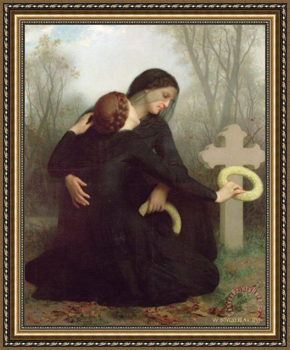 William Adolphe Bouguereau All Saints Day Framed Print
