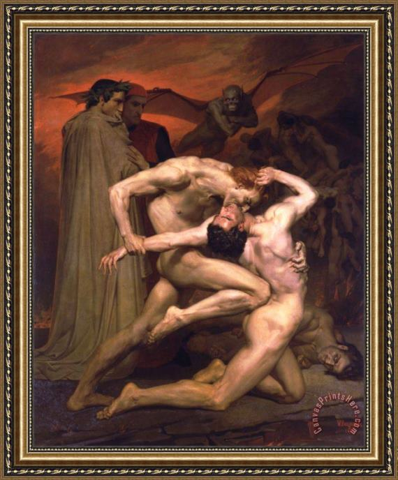 William Adolphe Bouguereau Dante And Virgil in Hell Framed Print