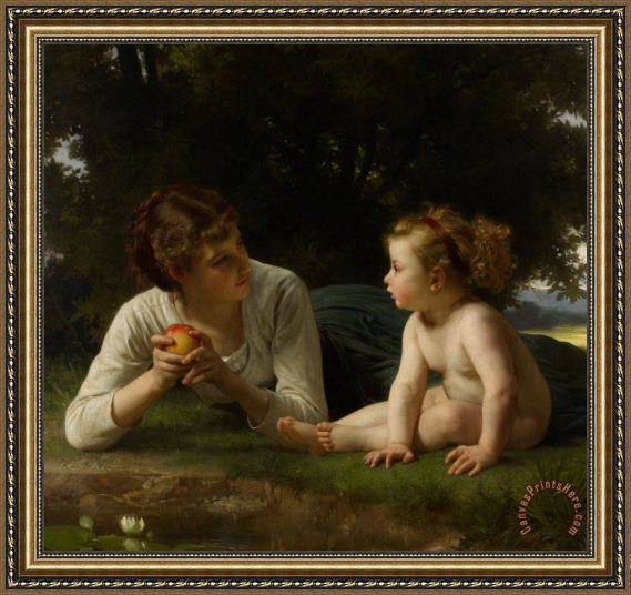 William Adolphe Bouguereau Temptation Framed Print
