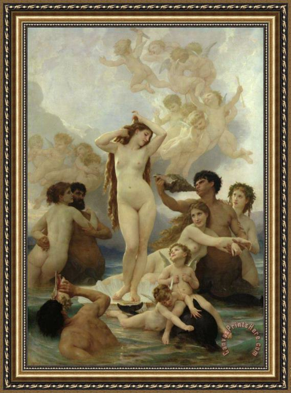 William Adolphe Bouguereau The Birth of Venus Framed Print