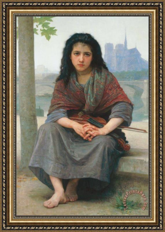 William Adolphe Bouguereau The Bohemian Framed Print