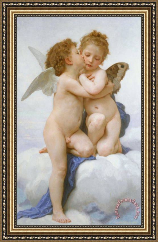 William Adolphe Bouguereau The First Kiss Framed Print