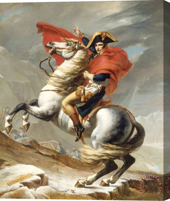 Jacques Louis David Bonaparte Crossing The Grand Saint-bernard Pass Stretched Canvas Painting / Canvas Art