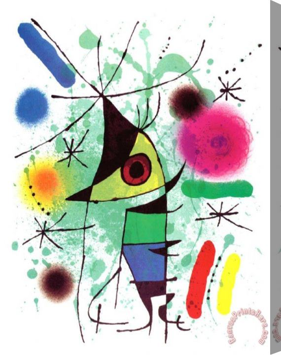 Joan Miro The Singing Fish Stretched Canvas Print / Canvas Art
