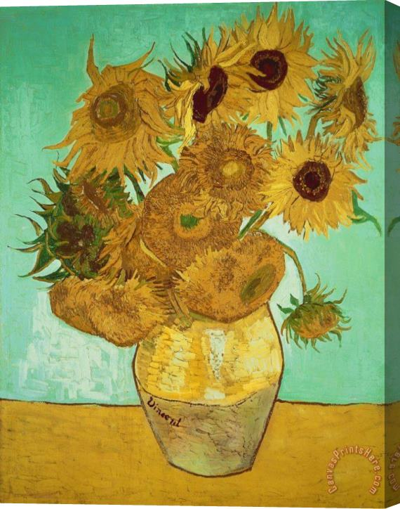 Vincent Van Gogh Sunflowers Stretched Canvas Painting / Canvas Art