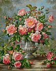Albert Williams English Elegance Roses in a Silver Vase Print
